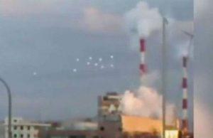 Ятото е прелетяло в небето над Осака
