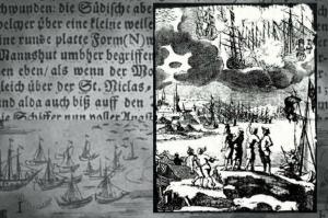 Воздушный бой инопланетян в 17 веке