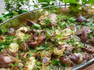 Приготвени по тази рецепта, пилешките дробчета стават много крехки и с прекрасен вкус