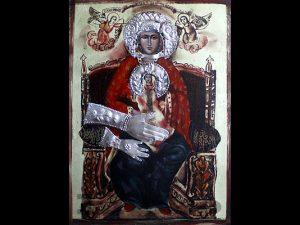 Иконата на Света Богородица Троеручица в Арбанаси лекува