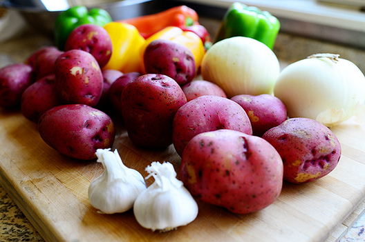 червените картофи