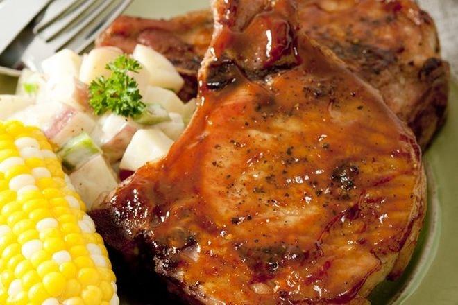 мариновани пържоли на фурна