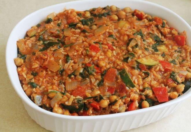 запеканка с ориз и зеленчуци