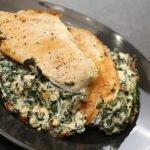 пиле със спанак и сирене