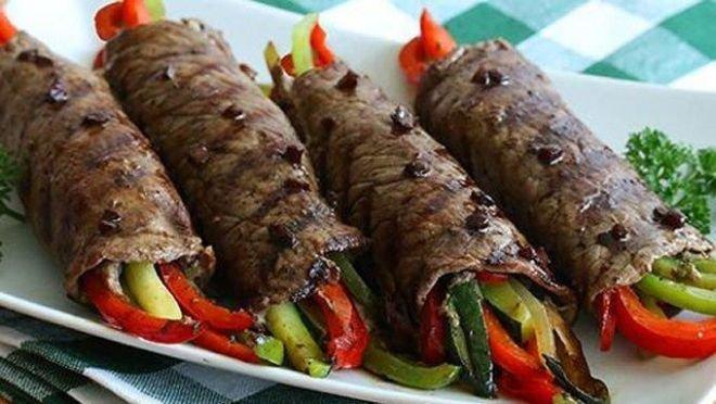телешки рула със зеленчуци