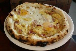 бърза пица с яйца