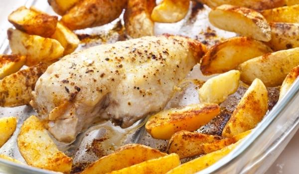 печено пиле по кавказки