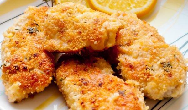 чесново пиле с пармезан
