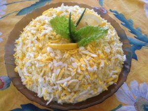 салата от яйца