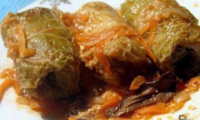 месо в зелеви листа