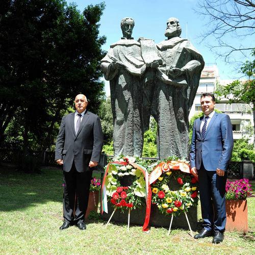 Бойко Борисов и Зоран Заев в Рим