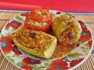пълнени ароматни зеленчуци