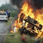 кола изгоря