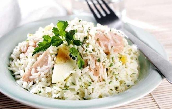ориз с маслини и яйца