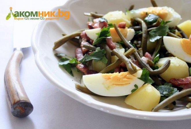 белгийска салата от зелен фасул