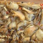 пиле с ориз и нахут на фурна