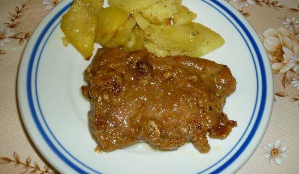 свинско филе с чесънче