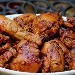 сочно пиле в специална марината