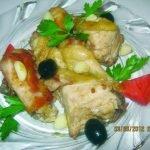 пържено пиле с чесън и оцет
