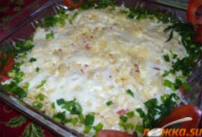 капитанска салата с риба тон