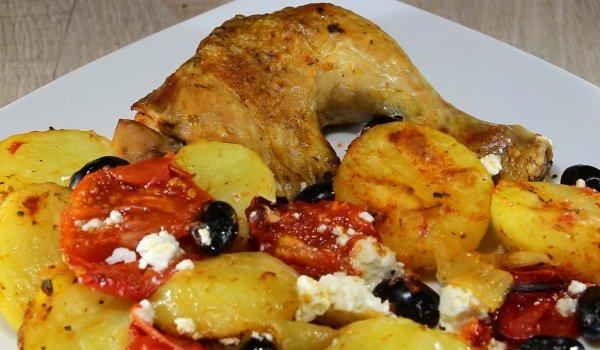 пилешки бутчета по гръцки