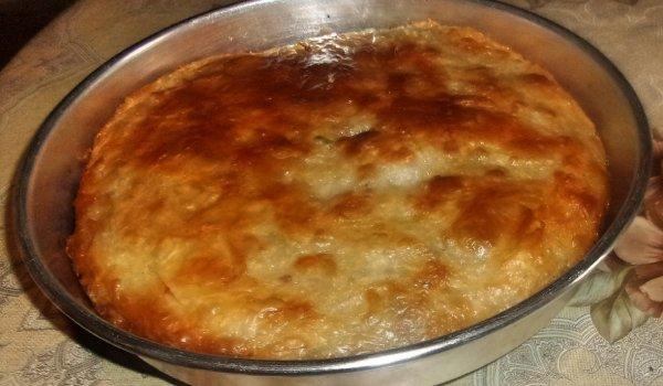 турски бюрек с кайма и праз