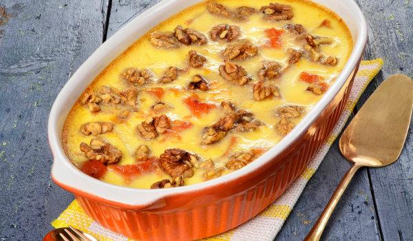 десерт с крем и карамелизирана тиква