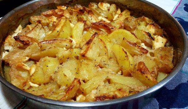 картофи с топено сирене
