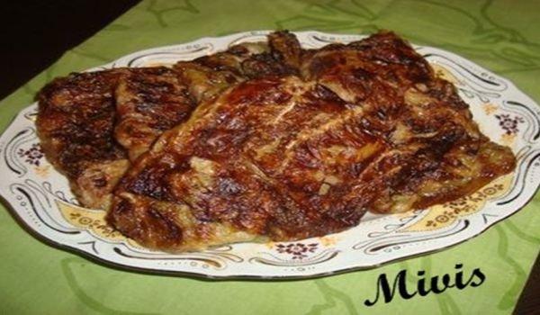 пържоли в зелев лист