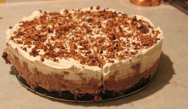 бърза торта с крем маскарпоне