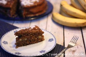 сурова бананова торта с кокос