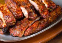 мариновани печени свински ребра