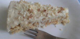 торта с крем и кокос