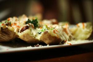 белгийски пълнени печени картофи