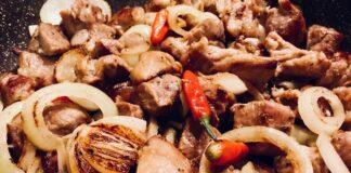кебап от свинско месо с пеперони