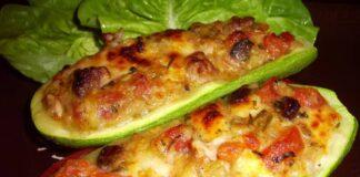 тиквички с плънка за пица
