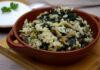 ориз с гъби и спанак