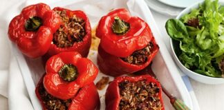 пълнени чушки по гръцка рецепта