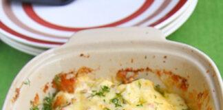 картофки с бекон, сирене и праз