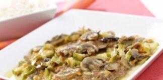 пържоли с гъби и кисели краставички