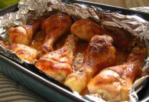 пилешки бутчета с масло и мед