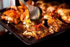 пилешко с маслини и червено вино