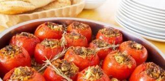пълнени домати с телешка кайма
