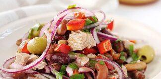 италианска салата с риба тон