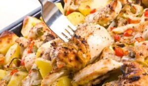 пилешко с картофи по селски
