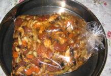 свинско със зеленчуци в плик