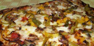 пица с печени зеленчуци