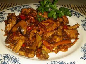 пилешки жулиени със зеленчуци