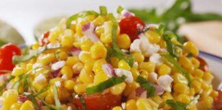 салата с царевица и сирене фета