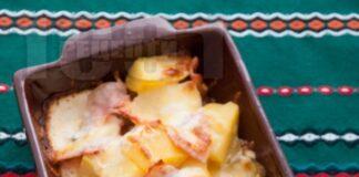 картофи с шунка и кашкавал